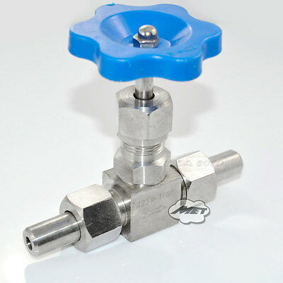 """1/2"""" inch DN10 Weld Ends Needle Valve SS304 Heavy Duty Hard Seal High Pressure"""