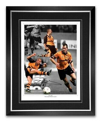 Steve Bull Wolverhampton Wanderes 16x12 Photo Montage Signed And Framed AFTAL Co