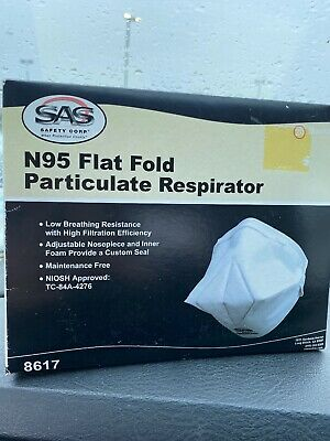N95 Flat Fold Particulate Respirator Mask SAS safety CORP (20 Pack)