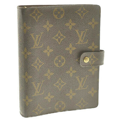 LOUIS VUITTON Monogram Agenda MM Day Planner Cover R20105 LV Auth sa2484
