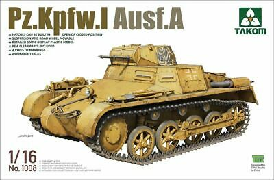 Takom Models 1/16 Panzer I PzKpfw.I Ausf.A w/Workable Tracks