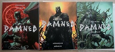 Batman Damned complete Jim Lee signed by artist w/ proofUncensored 1 , 2 , 3,