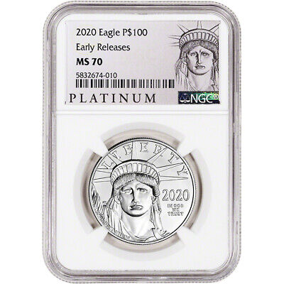 2020 American Platinum Eagle 1 oz $100 - NGC MS70 Early Releases ALS Label