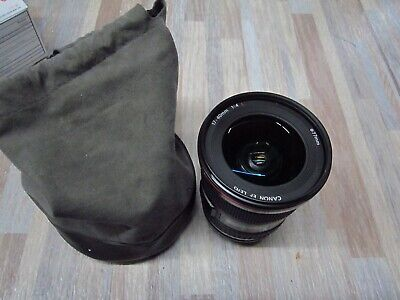 Canon EF 17-40mm 1:4 L USM Ultrasonic Wide Angle Zoom Lens Auto-Focus  NICE