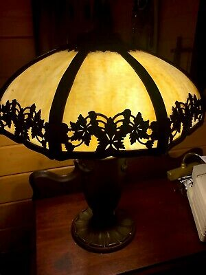 Bradley Hubbard Slag Glass lamp In Excellent Conditionl