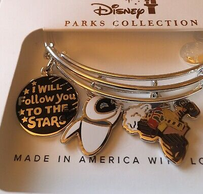 Disney Alex & Ani Wall E Eve I Will Follow You To The Stars Silver Bracelet