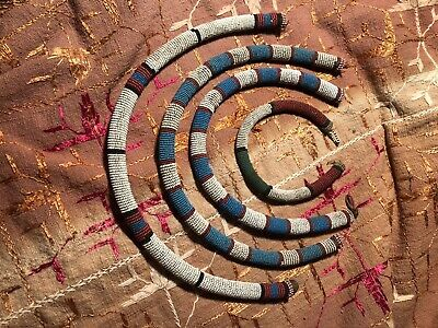 Four Antique South African Xhosa Beaded Necklaces