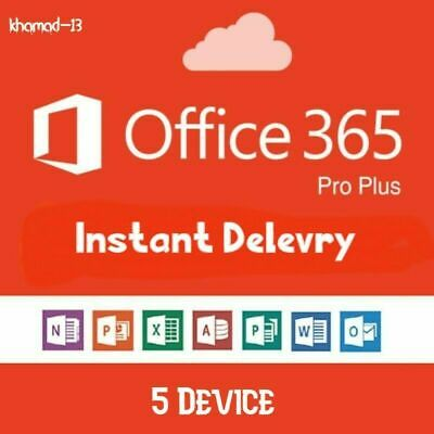MS Office 365 ProPlus 2019 LifeTime Account 5 Devices PC/Mac New-Account