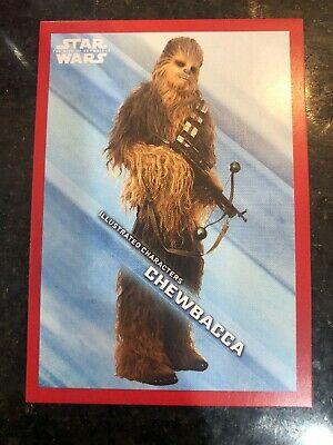 2019 Topps Star Wars Rise Skywalker Chewbacca /149 Character Red Walmart Exclusi