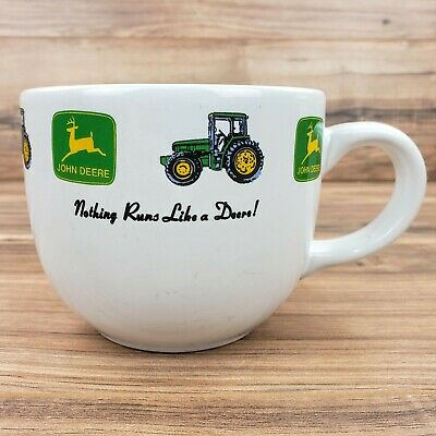 John Deere Extra Large Coffee/Soup Mug Nothing Runs Like a Deer Soup Cup Tractor