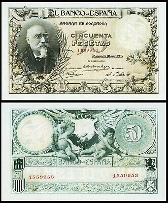 Facsimil Billete 50 Pesetas de 1905 - Reproduction