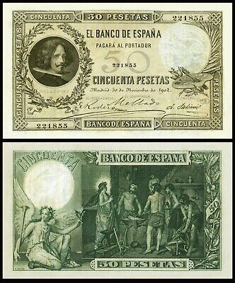 Facsimil Billete 50 Pesetas de 1902 - Reproduction