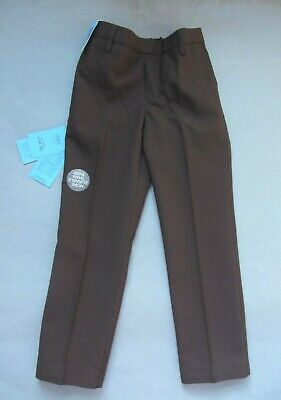 New boys Marks and Spencer brown slim leg school trousers age 5-6