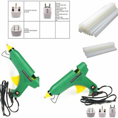 Professional Hot Melt Glue Gun With 10pcs Hot Melt Glue Sticks 40w/60w/80w/100w