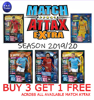 Match Attax EXTRA 19/20 FOIL CARDS 100 CLUB LIMITED EDITION - BUY 3 GET 1 FREE