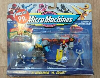 MICROMACHINES 1994 Saban Power Rangers Zord Action Figures Near Comme neuf condition