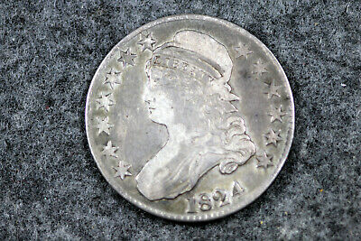 Estate  Find 1824  Capped Bust Half Dollar  #D23749