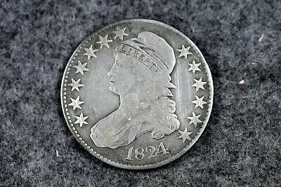 Estate  Find 1824  Capped Bust Half Dollar  #D23950