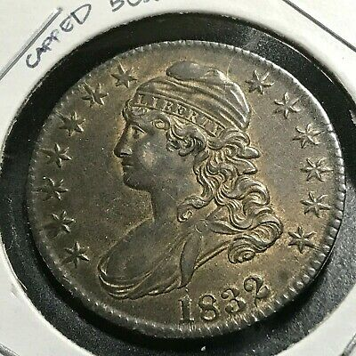 1832 Silver Capped Bust Half Dollar High Grade Coin