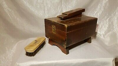 Vintage Wood Shoe Shine Box with Footrest by Arrow Products USA
