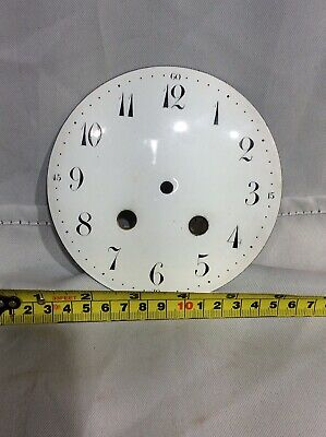 Large French White Enamel Porcelain 8 Day Mantle Clock Dial - Clock Spares No4