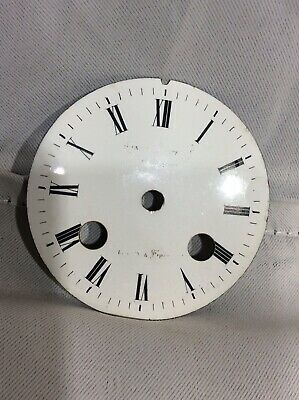 Antique French Cream Enamel Porcelain 8 Day Mantle Clock Dial - Clock Spares No2