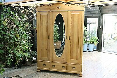 Wow! Lovely! Old Antique Pine Triple 'Knock Down'  Wardrobe-We Deliver/Assemble!