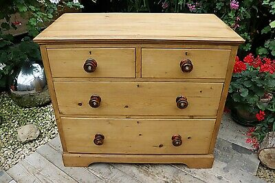 Lovely! Old Antique (Victorian) Pine Chest Drawers/ Sideboard -  We Deliver!