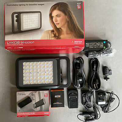 New Manfrotto LYKOS LED Light Bi-colour + Bluetooth Dongle + Anton Bauer Battery
