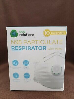 VIRUS MASK PROTECTION - Eco Solutions N95 Particulate Respirator Mask (Box 10)