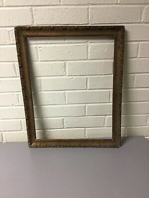 "Antique Vtg Beautiful Gold Gilt Gesso Frame Arts & Crafts 20 1/4"" X 16 1/2"""