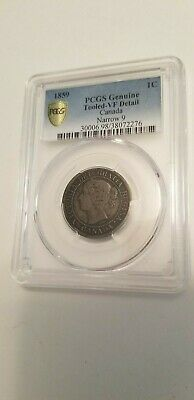 Collectible 1859 Very Fine  1 Cent Narrow 9 Pcgs Graded !!!!!