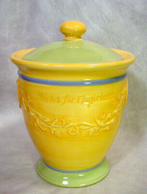Pfaltzgraff SECRETS of PISTOULET Herbs for Magicians SUGAR CANISTER Cookie Jar