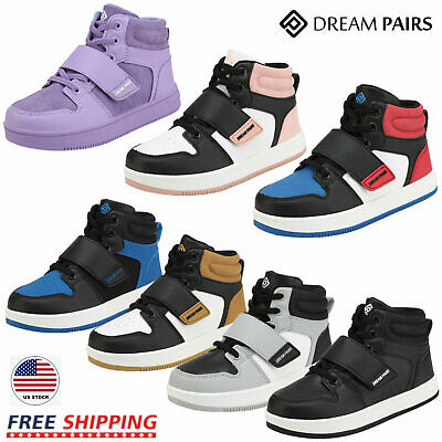 DREAM PAIRS Boys Girls  Women High Top Sneaker Youth Basketball Kids' Shoes GS