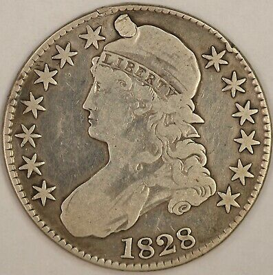 1828 Capped Bust Half Dollar. Plugged.  RAW586/RN