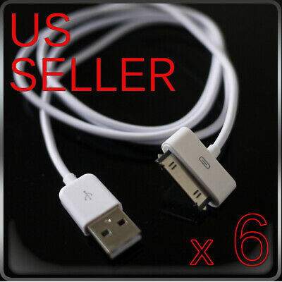 6FT 1M USB Sync Charger Cable Cord For iPad 2 iPod 4S G3G4 Nano iPhone 4 # H3R7