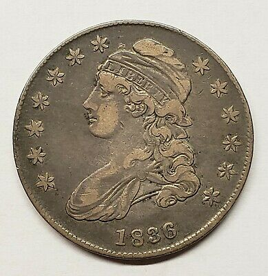 1836 Capped Bust Half Dollar – Nice Original VF+