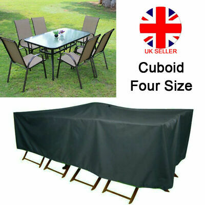 Extra Large Garden Rattan Outdoor Furniture Cover Patio Table Seat Protection UK