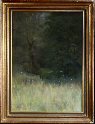 Henry Bouvet (1859-1945) Signed & Dated 1887 French Oil On Canvas - Wildflowers
