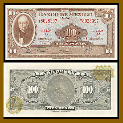 Mexico 100 Pesos, 1972 P-61h Uncirculated Unc