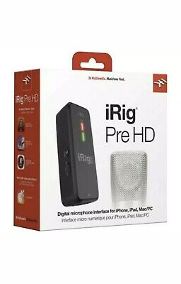 NEW! IK Multimedia iRig Pre HD High Definition Microphone Interface