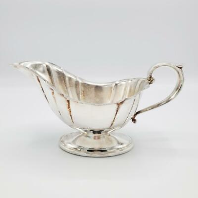 Silver Plated Sauce Boat Gravy Scalloped Edge