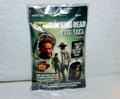 '15 THE WALKING DEAD Season 4 Dog Tag Factory Sealed Pack Clean 2 LOT Tags Packs