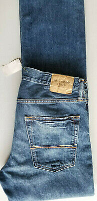 ABERCROMBIE & FITCH A&F Men Remsen Low Slim Straight Denim Jean - 32x34 Blue