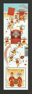 Canada 2020 Zodiac Lunar Year Of Rat Souvenir Sheet Of 1 Stamp Mint Mnh Unused