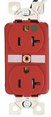 Bryant 20,  Heavy Use Hospital Grade,  Receptacle,  Red,  Yes Tamper Resistant