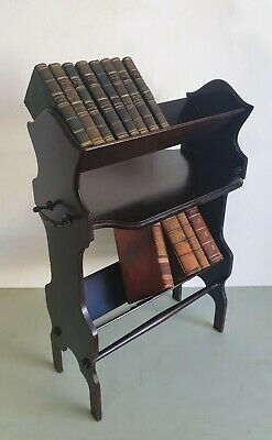 Art Nouveau / Arts And Crafts Mahogany Book Stand / Book Shelves / Book Trough /