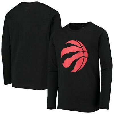 Toronto Raptors Youth Primary Logo Long Sleeve T-Shirt - Black
