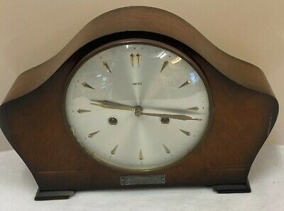 Vintage Smiths Enfield Wooden Mantle Clock **Spares & Repairs** (D2)