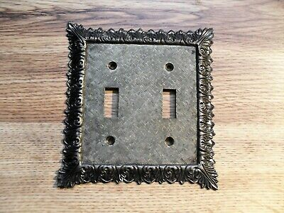 M.C. Co. Vintage Brass 3026 Double Toggle Switch Plate Cover